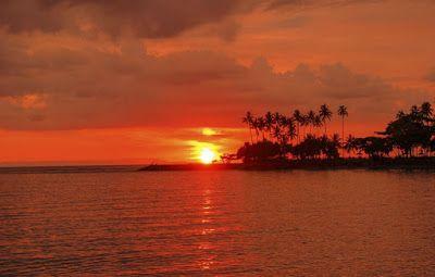 Gambar Pemandangan Sunset Pantai Pemandangan Matahari Terbenam Pantai Matahari Terbenam