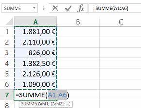 Excel So Addieren Sie Viele Zellen Zu Einer Summe In 2020 Excel Programing Software Financial Planning