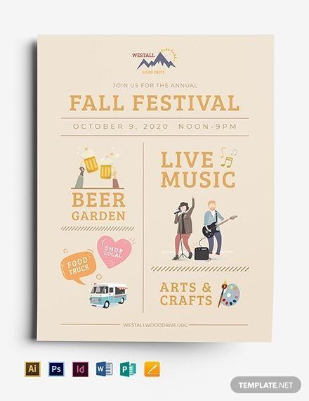 Festival Flyer Template [Free JPG] - Google Docs, Illustrator, InDesign, Word, Apple Pages, PSD, Publisher | Template.net
