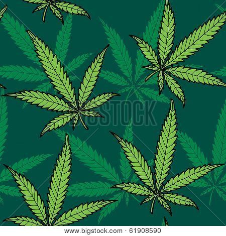Seamless Hand Drawn Hemp Pattern No Transparency And Gradients Used Poster Id 61908590 In 2020 Seamless Pattern Vector Seamless Patterns How To Draw Hands