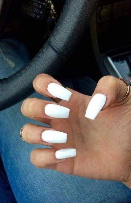 Nails Acrylic White Square 45 Ideas Coffin Nails Long White Coffin Nails Acrylic Nails Coffin