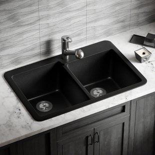 Wells Sinkware 32 L X 19 W Undermount Kitchen Sink With Basket Strainer In 2020 Drop In Kitchen Sink Sink Double Bowl Kitchen Sink