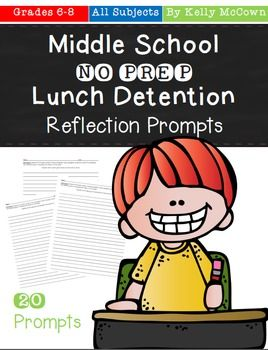 detention reflection packet