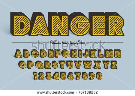 Decorative vector vintage retro typeface, shadow, font