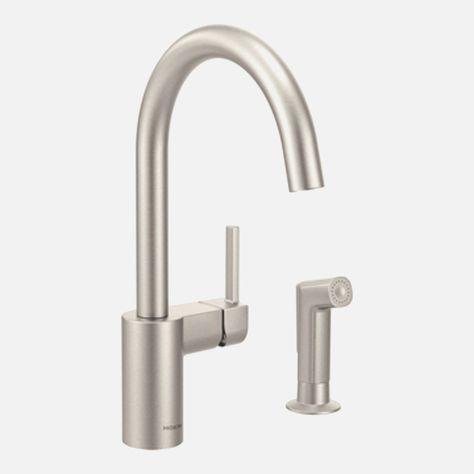 moen high arc kitchen faucet moen 7594csl arbor one handle high rh hu pinterest com