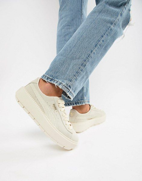 Puma Suede Platform Trace Animal Sneakers in 2020 | Puma