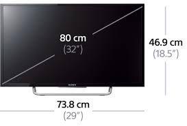 dimension tv 32 pouces en cm