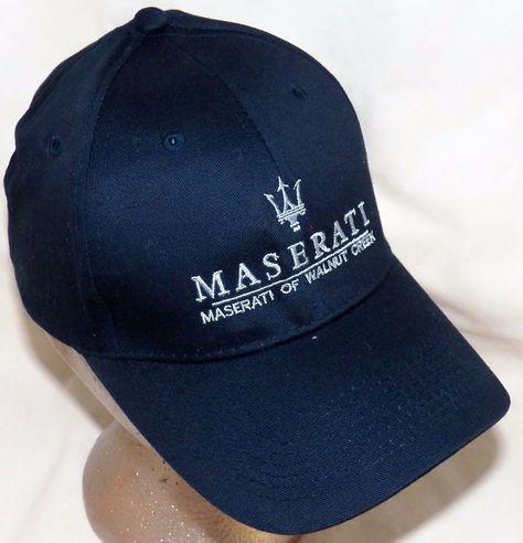 Maserati of Walnut Creek Luxury Collection Trident Navy Blue Baseball Hat  Cap  Maserati  BaseballCap 8dc0b3da4df