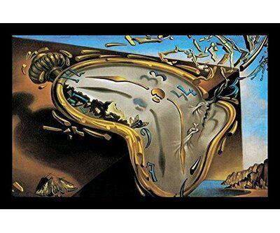 Vault W Artwork Clock Explosion Framed Print In 2021 Salvador Dali Art Dali Paintings Dali Art