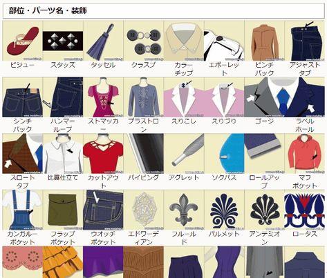 衣装のアイデアを練る時にお役立ちなファッション・パーツ・装飾