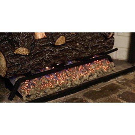 Gas Log Replacement Elegant Fiber Glowing Embers Rock Wool 4 Oz