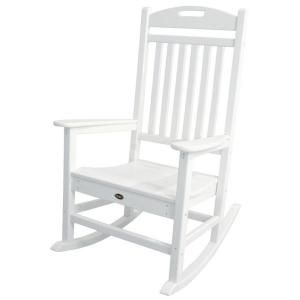 Trex Outdoor Furniture Yacht Club Classic White Plastic Outdoor Patio Rocker Txr100cw The Home Depot In 2020 Trex Outdoor Furniture Cheap Patio Furniture Pallet Furniture Outdoor