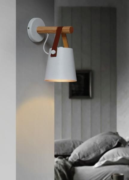 Nordic Wooden Hanging Wall Lamp In 2020 Wooden Wall Lights Battery Operated Wall Sconce Wall Lamp