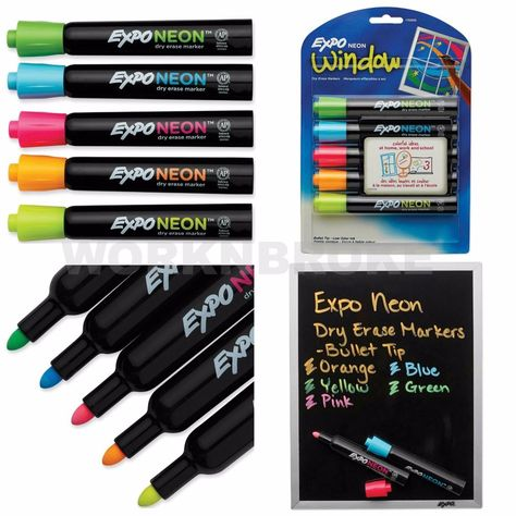 White Board Marker Neon Dry Erase Window Glass Top Surfaces