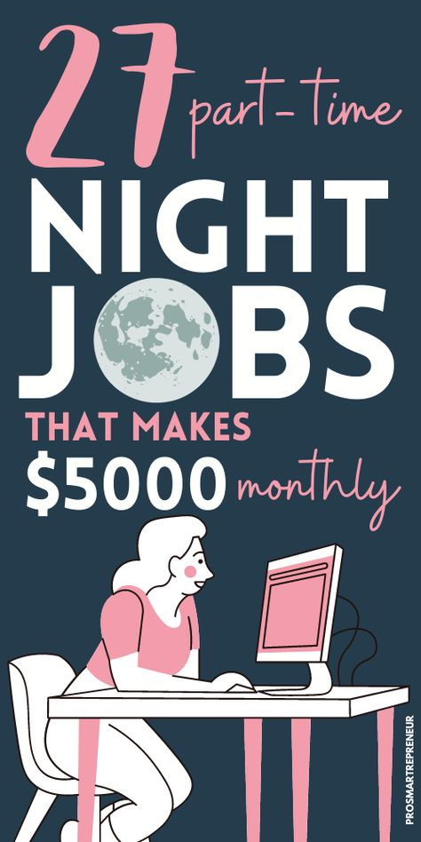 27 Real Part-Time Night Jobs from Home (Make $1000 Every Week)