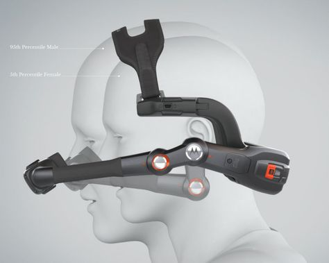 Designed by Rob Mansfield, Motorola headset computer offers a wearable computer that allows you to get access to hands free mobile computing. This device