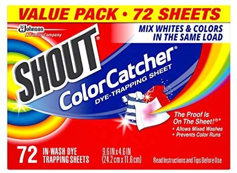Amazon Com Shout Color Catcher Dye Trapping Sheets 72 0 Count