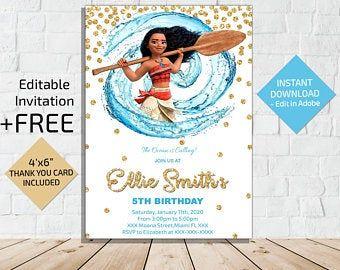 Moana Editable,Moana Party Moana Invitation Birthday Party Invite INSTANT DOWNLOAD/_Moana Birthday Invitation,Birthday Invitation Moana