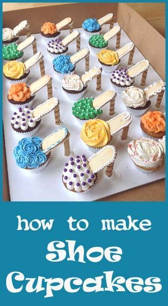 How to make High Heel Shoe Cupcakes! But since I don't like cupcakes, I'd use a muffin recipe that is sweet. Shoe Cupcakes, Cupcake Cakes, High Heel Cupcakes, Ladybug Cupcakes, Kitty Cupcakes, Snowman Cupcakes, Giant Cupcakes, Birthday Cupcakes, Stiletto Cupcakes