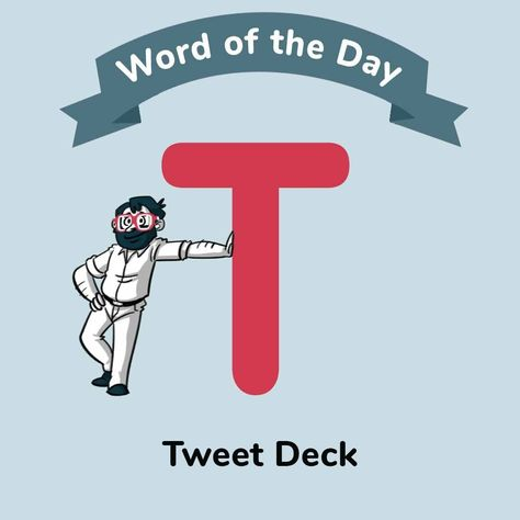 #Wordoftheday #TweetDeck ↔️ is a platform for managing #Twitter activity. Tweets can be created and scheduled along with many other advanced features. #digitalmarketing