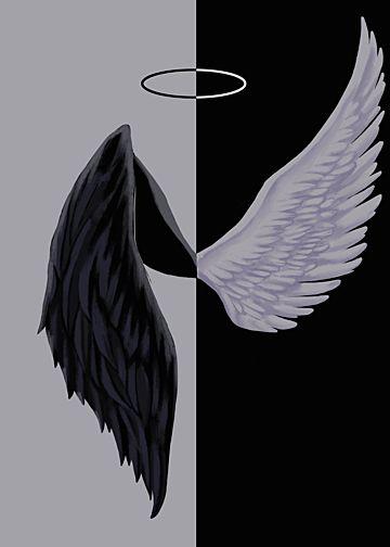 black,wing,devil,halo,angel,background,grey,angel background,devil background,black background,red background