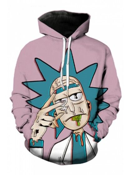 Rick And Morty 3d Print Long Sleeve Pullover Hoodie Hoodie Cartoon Anime Sweatshirt Funny Hoodies