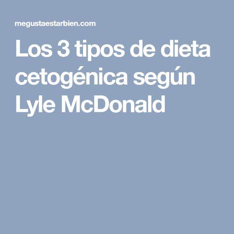 Tipos de dieta cetosisgenica