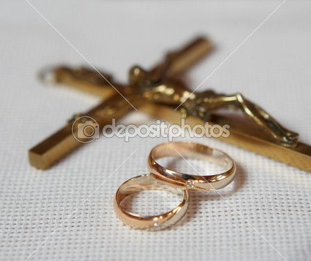 Gold weddingrings with a crucifix Marriage Ministry Pinterest