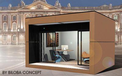 Biloba Concept Large Gamme D Habitat Modulaire Independant A Toulouse Bureau De Jardin Studio De Jardin Habitat