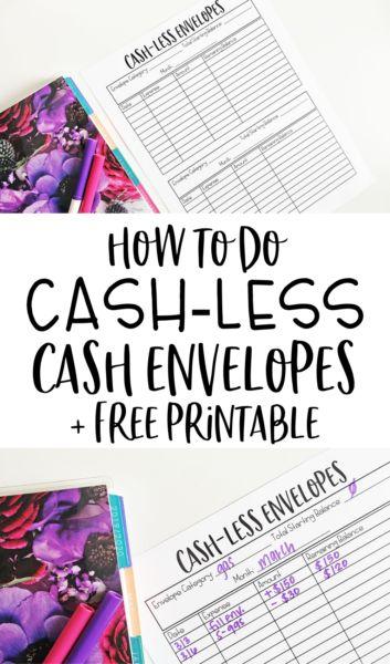 Cash-less Cash Envelope Alternative