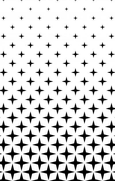 Download Monochrome Star Pattern Abstract Vector Background From