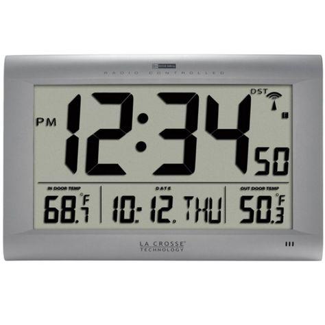 Home Garden La Crosse Technology, Best Atomic Wall Clock With Indoor Outdoor Temperature