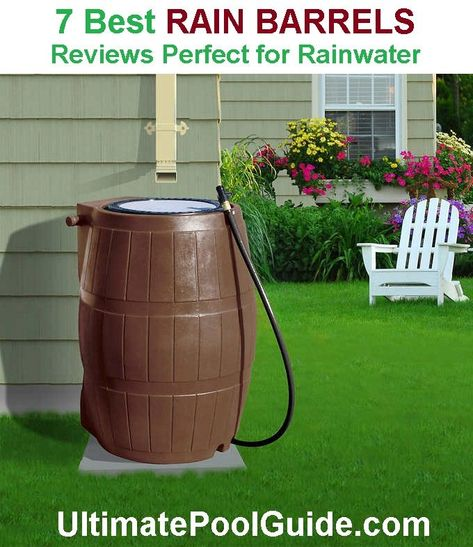 Rain Barrels Are 50 100 Gallon Covered Plastic Tanks With A Hole In The Top For Downspout Discha Rain Barrel Rain Water Collection Rain Water Collection System