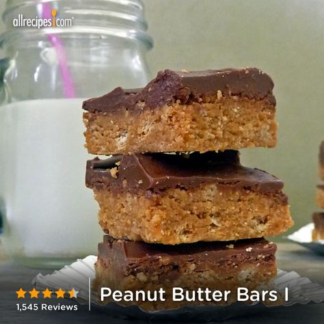 Peanut Butter Bars | These peanut butter bars taste just like peanut butter cups.