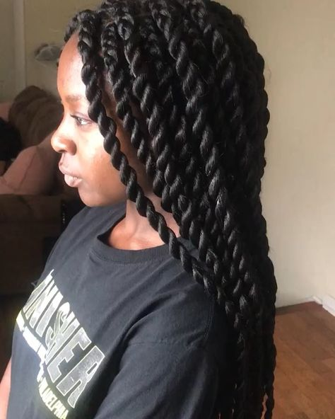 naturalhairstyles Large twists #senegalesetwist...