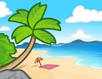 Image Result For صور شاطئ البحر للتلوين Beach Landscape Art Beach Art Lesson Beach Drawing