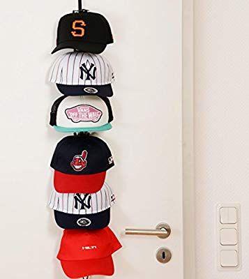 Cap Rack Basic Kappenhalter in Schwarz mit 6 Clips für bis zu 18 Baseball Caps