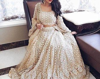 Rose gold Beige Net Floor Lenght Gown With Satin Pants wedding lehenga gown cocktail reception sangeet ceremony Lehenga engagement cocktail