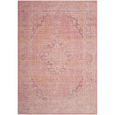 Bungalow Rose Chauncey Cotton Fuchsia Area Rug In 2021 Floral Rug Pink Area Rug Area Rugs