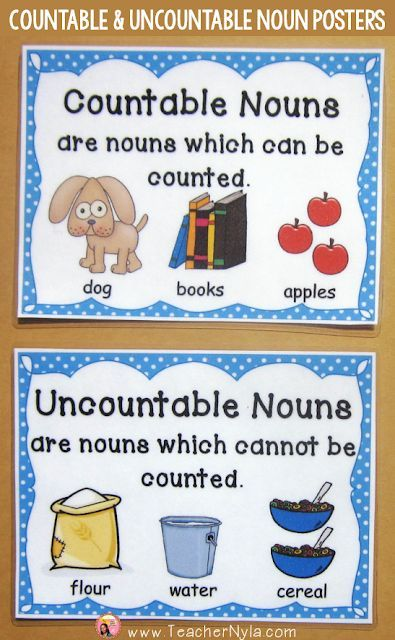 Countable And Uncountable Noun Posters Uncountable Nouns Nouns Worksheet Nouns