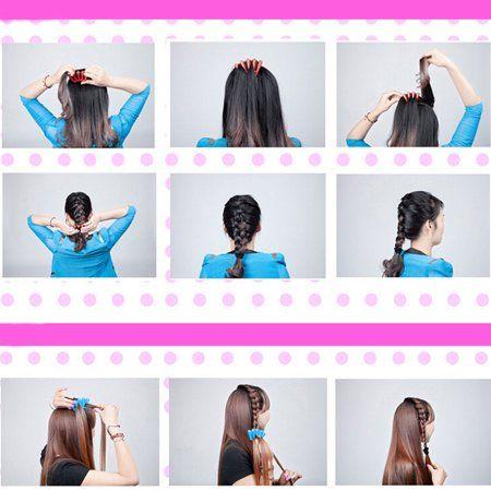 Sponge Hair Braider Twist Styling Braid Tool Holder Clip Diy Walmart Com Braid Tool Hair Braider Hair