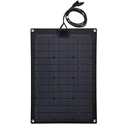 Lensun 50w 12v Black Fiberglass Semi Flexible Monocrystalline Solar Panel For 12v Charge Battery On Boats Solar Panels Van Camping Monocrystalline Solar Panels