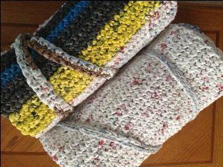 How To Make Mats For The Homeless Plastic Bag Crochet Crochet Mat Plastic Bag Crafts