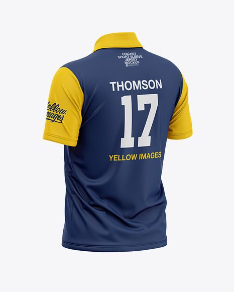 Download Men S Regular Short Sleeve Cricket Jersey Polo Shirt Back Half Side View Of Soccer Jersey In Apparel Mockups On Yellow Images Object Mockups Clothing Mockup Shirt Mockup Design Mockup Free