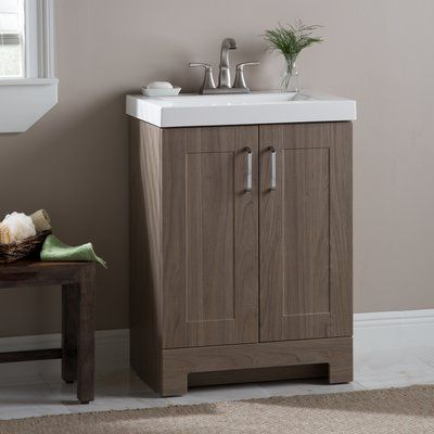 Wrought Studio Baretta 25 Single Bathroom Vanity Set Bathroom Vanity Single Bathroom Vanity Modern Vanity