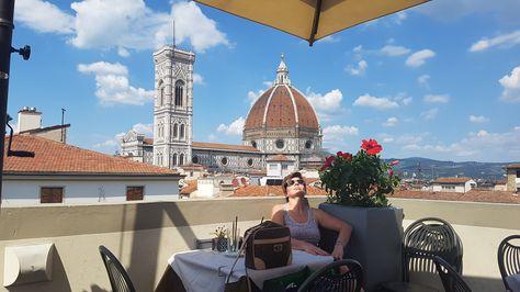 Caffe' La Terrazza, Florence (Through the La Rinascente ...