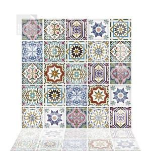 Roommates 10 5 In X 10 5 In Spanish Terracotta Tile Peel And Stick Backsplash Til4279flt The Home Depot In 2021 Self Adhesive Wall Tiles Peel And Stick Tile Mosaic Wall Tiles