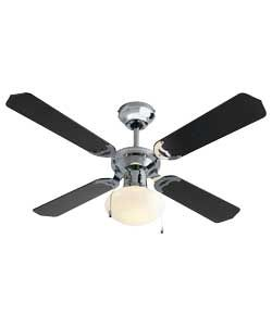 Buy Argos Home Ceiling Fan Black Chrome Ceiling Fans Black