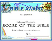 free printable bible award certificate