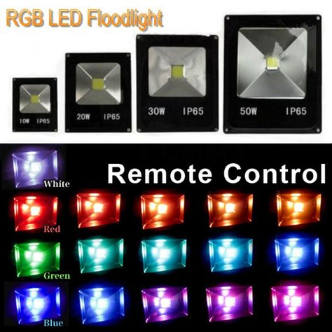 1x 10w 20w 30w 50w Led Outdoor Floodlight Ac85 265v Rgb Warm White Cool White With Ir Remote Controller 16 Colorful Outdoor Flood Lights Flood Lights Rgb Led